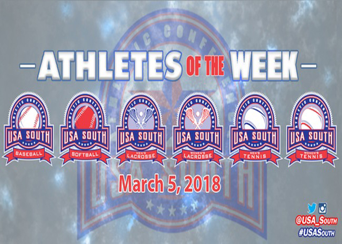 Three Hawks earn USA South Athlete of the Week honors