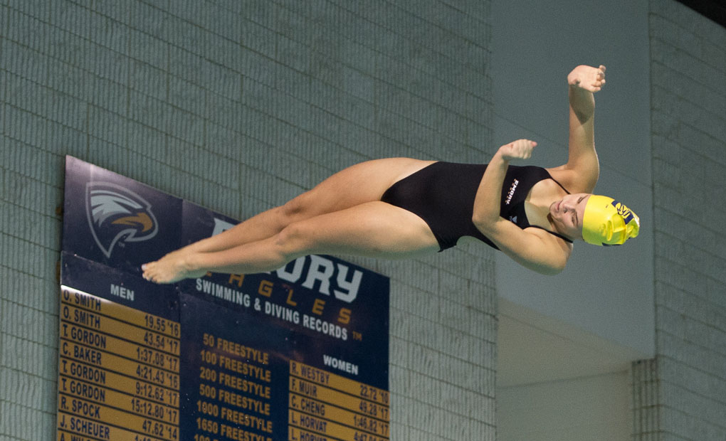 Kushner Takes Third in Women's 1-Meter; Burke Places Fifth in Men's 3-Meter to Open NCAA Diving Regionals