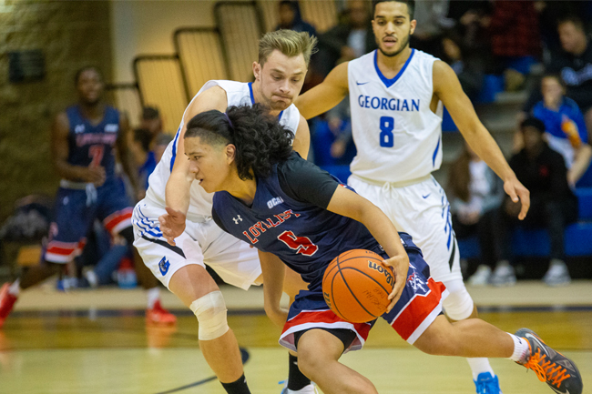 MEN'S BASKETBALL CAN'T PACE LANCERS