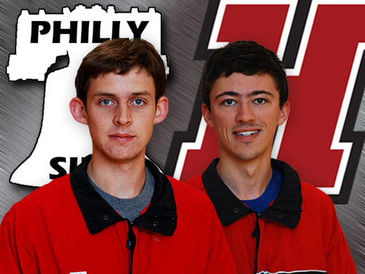Christopher Stadler '14 (left) and Peter Kissin '13 were voted onto the Philly Inquirer/Philly-SIDA 2012 academic all-area men's cross country team.
