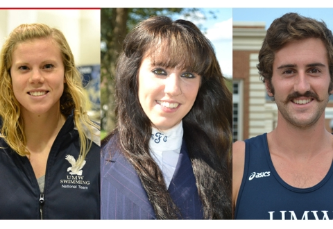 DeSmit, Frano, Marino Named UMW Scholar-Athletes of the Year