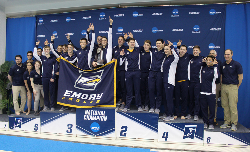 Three Event Titles on Final Day Pushes Men's Swimming & Diving to National Runner-Up Finish