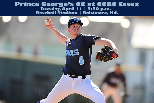 Prince George's Baseball Heads To CCBC Essex For MD JUCO Contest On Tuesday