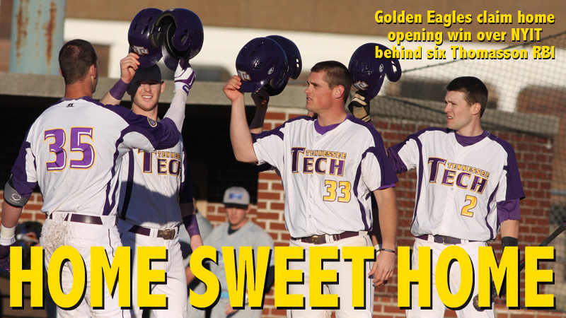 Golden Eagles claim 11-2 home opening win behind bat of Thomasson