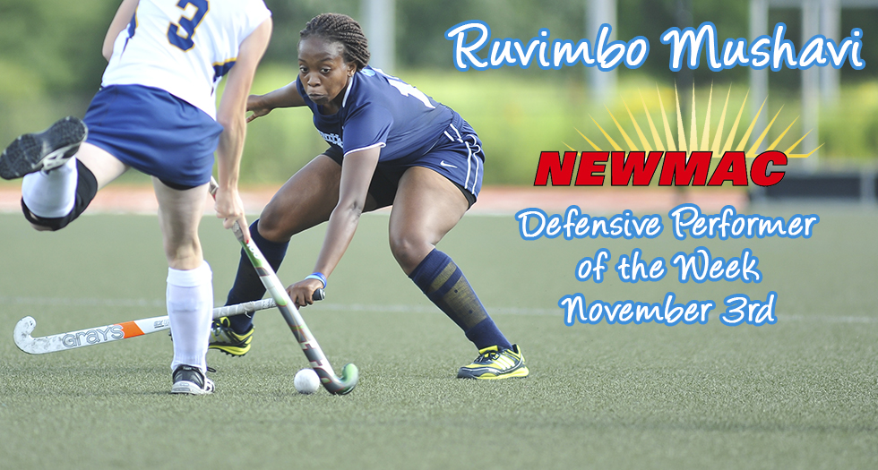 Mushavi Named NEWMAC Defensive Performer of the Week