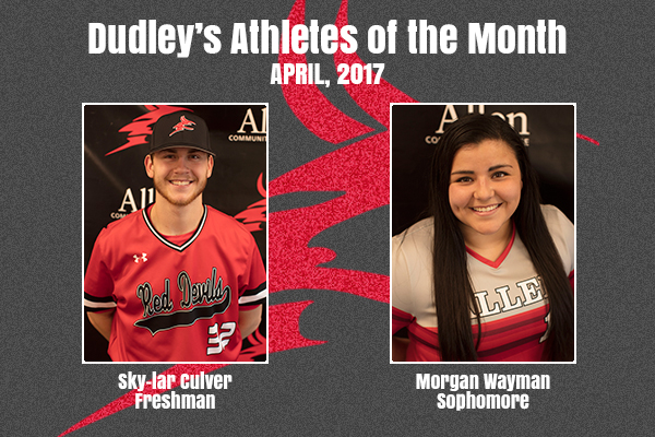 Dudley's April Athletes of the Month