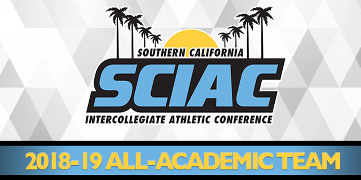 Whittier College Features 122 on 2018-19 SCIAC All-Academic Team
