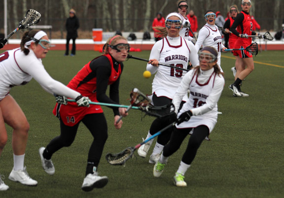 Bridgewater Pushes Past Women's Lax, 18-8