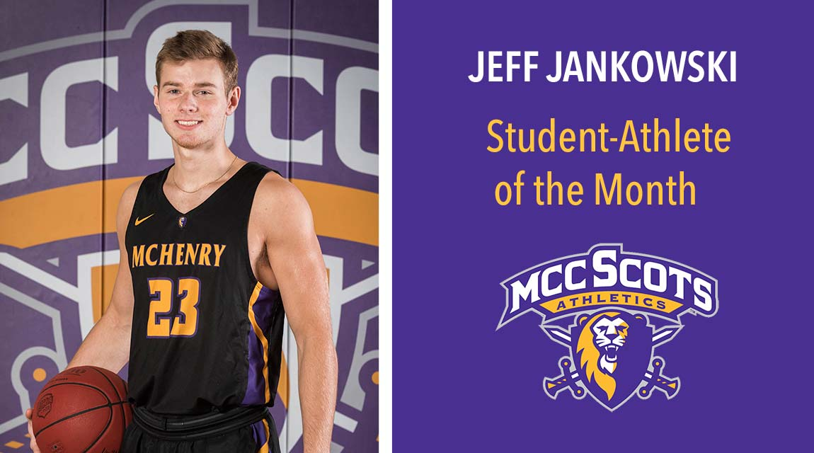 Jeff Jankowski, January 2020 Student-Athlete of the Month