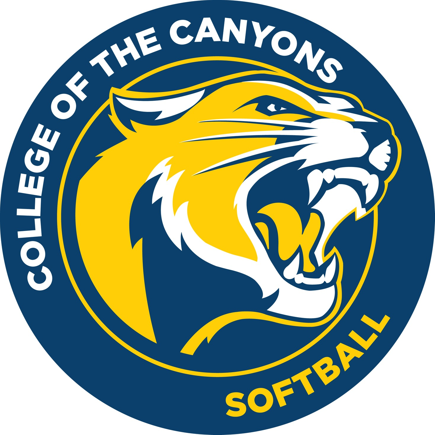 College of the Canyons softball logo.