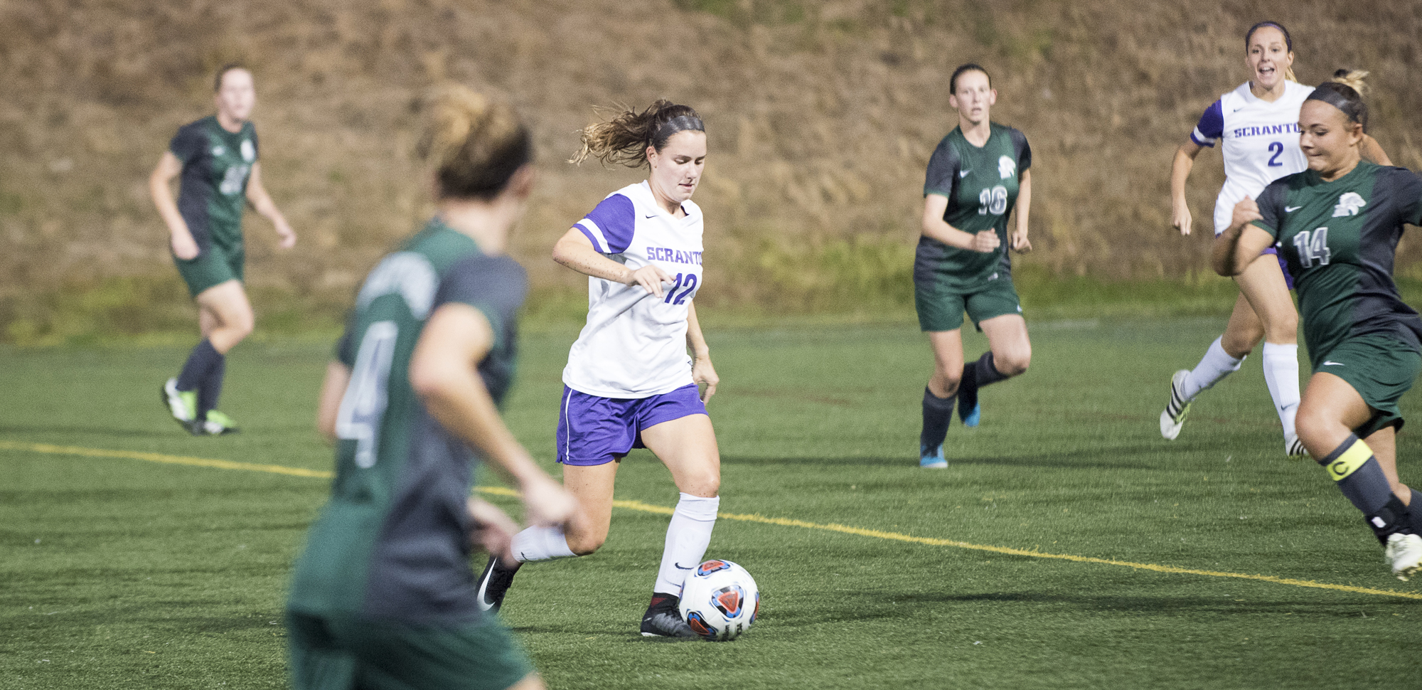Junior midfielder Brittany Uricchio scored the match-winning goal in the 12th minute on Saturday.