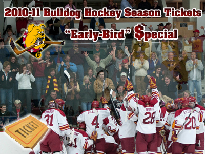Bulldog hockey fans have special opportunity to save on 2010-11 season tickets purchase.  (Photo by Ed Hyde)