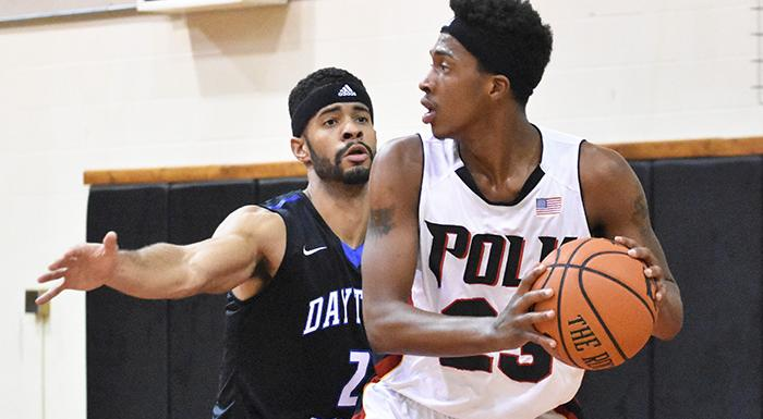 Darrelle Porter scored 16 points as the Eagles upset No. 1 Daytona State on the road in OT. (Photo by Tom Hagerty, Polk State.)