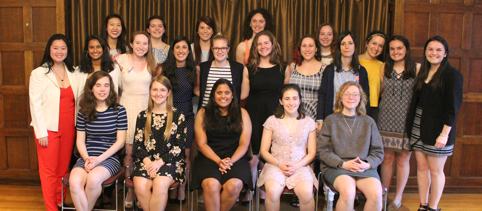 The 24 student-athletes honored as MHC Senior Scholar-Athletes at an awards ceremony on May 1st.