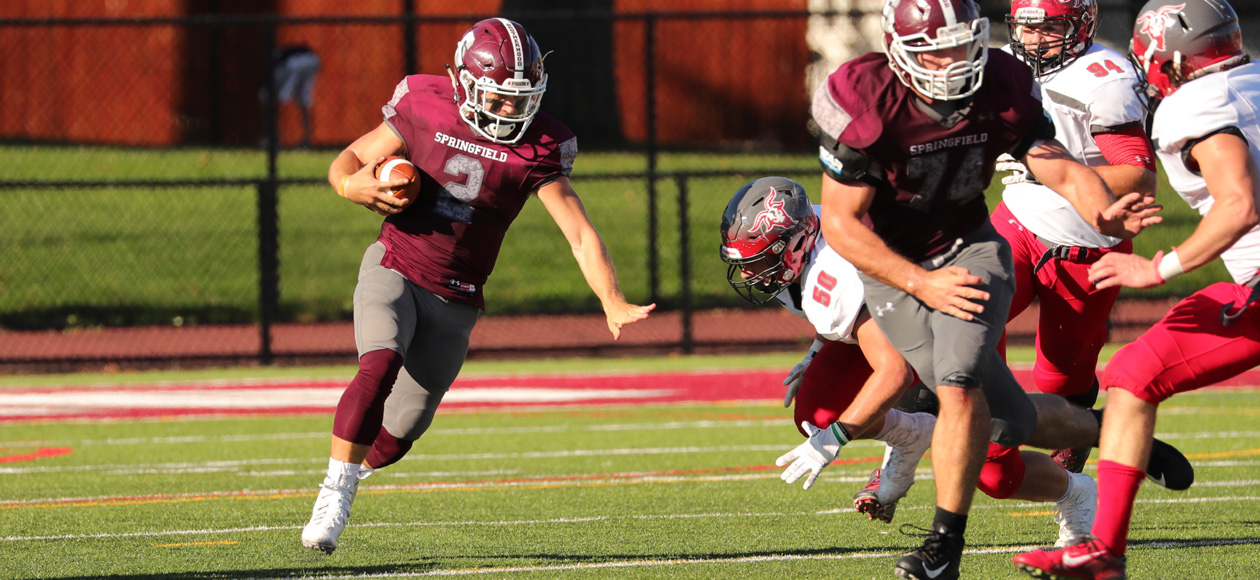 Football Storms Past WPI, 42-10, In NEWMAC Opener
