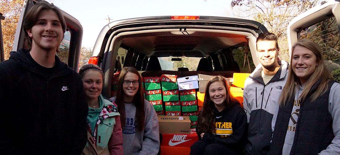 Student-Athletes Pack 118 Shoeboxes For Operation Christmas Child