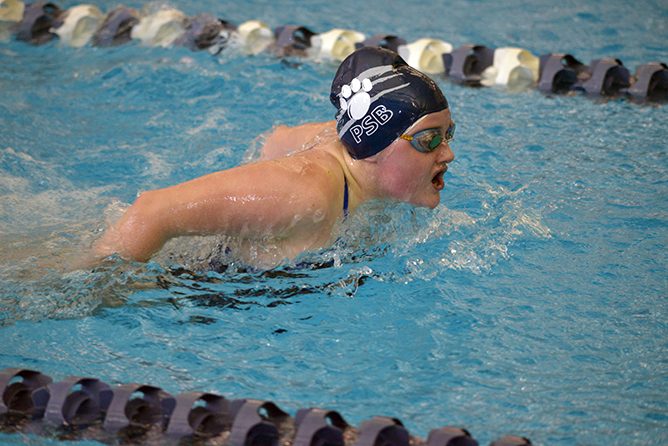 Women's Swimming and Diving Remains in Second at Fredonia Invite