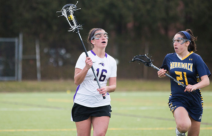 Women's lacrosse opens home and NE10 schedules with loss to No. 1 Adelphi