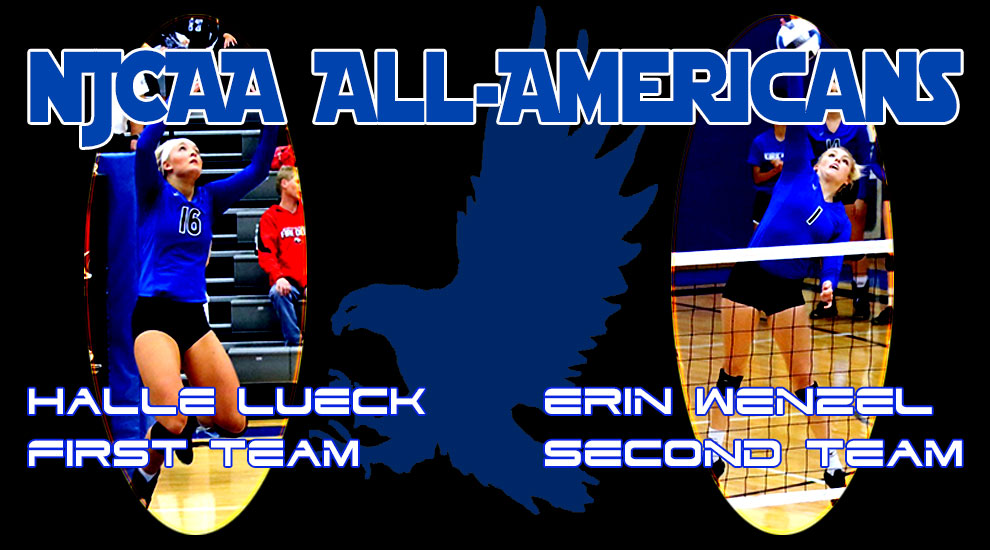 Photo for Lueck and Wenzel earn All-American Honors