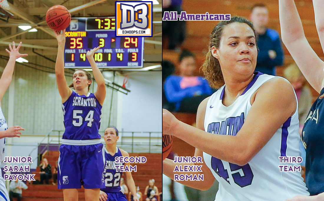 Payonk, Roman Named to D3hoops.com All-American Teams