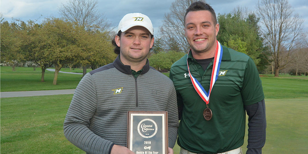 Collin MacDonald was Rookie of the Year at the CC Championship and Brandon Vance earned all-conference honors. Photo courtesy of Muhlenberg Athletics Communications.