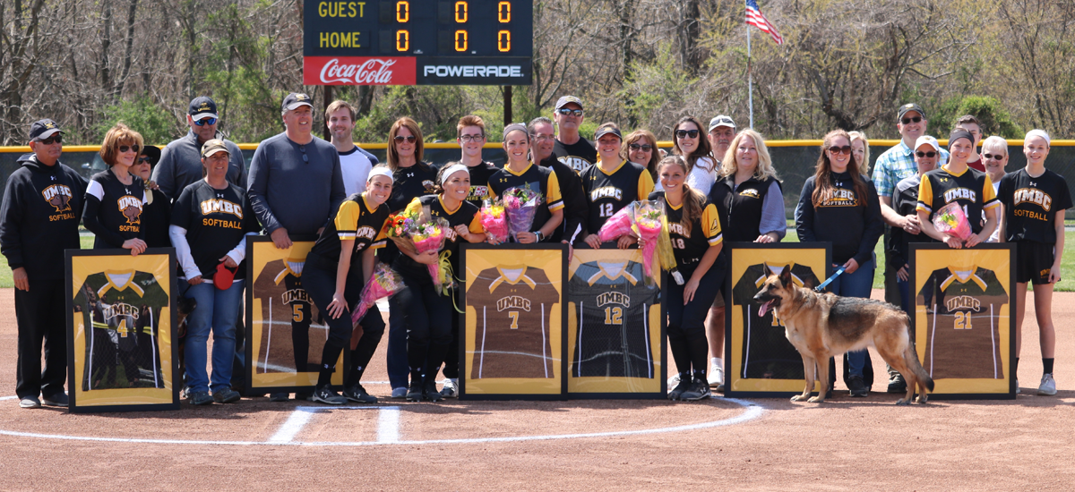 Softball Edged By Albany on Senior Day