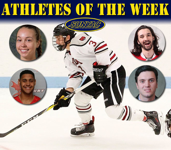 SUNYAC announces weekly basketball and ice hockey honors