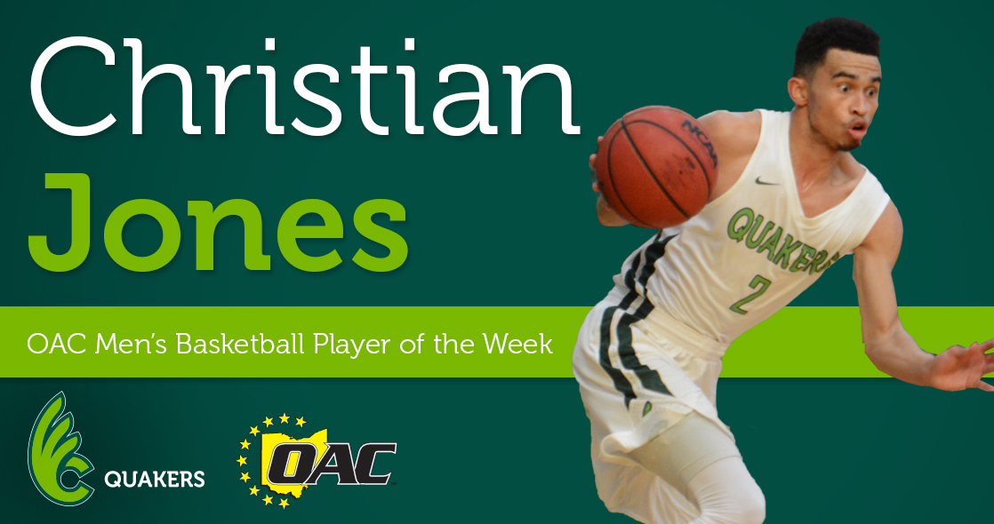 Christian Jones Named OAC Men's Basketball Player of the Week