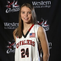 Caitlin Young scored 19 off the bench to spark Western Tech to a place in the NJCAA Division III semi-finals.