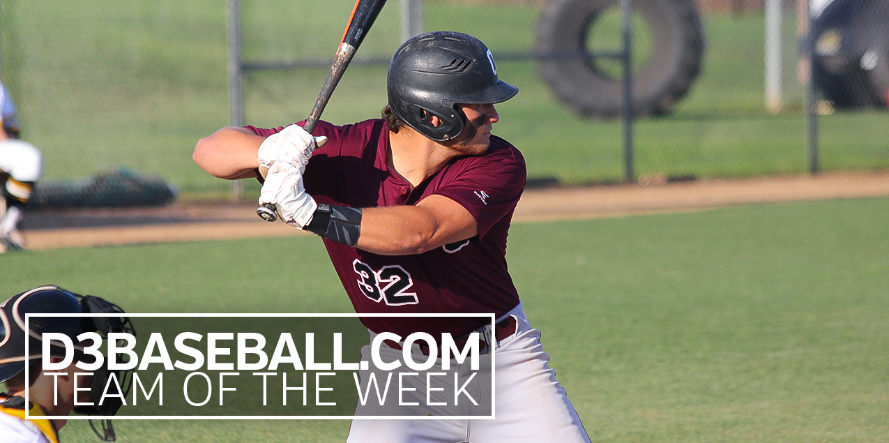 Centenary's Zapata Named to D3Baseball.com Team of the Week