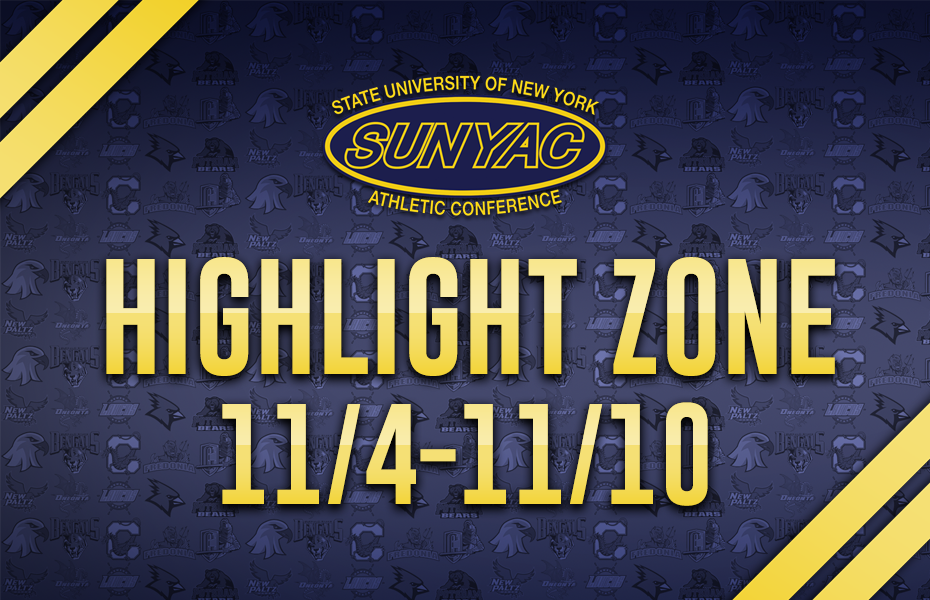 SUNYAC Highlight Zone - Nov. 4-10