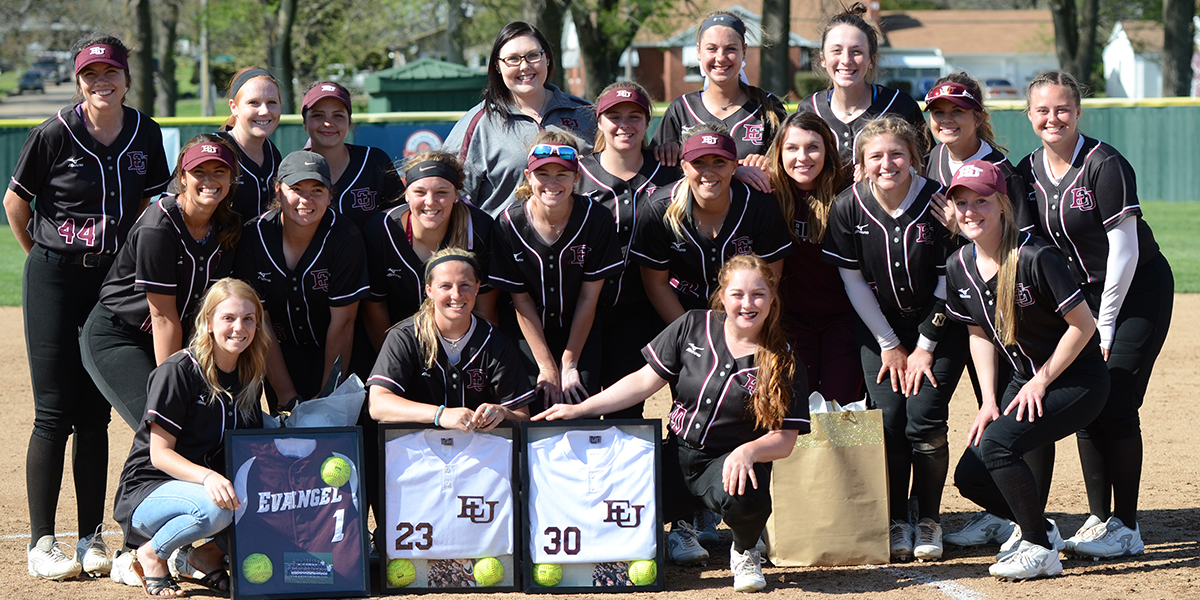 Evangel Softball Seniors Close out Final Home Series with Sweep vs William Penn