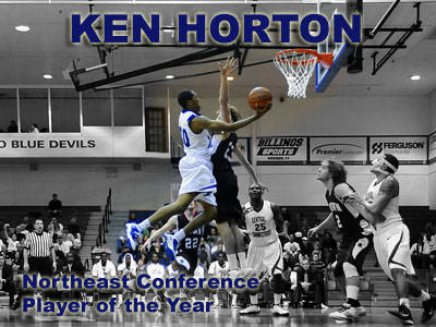 Junior Ken Horton Named Northeast Conference Player of the Year
