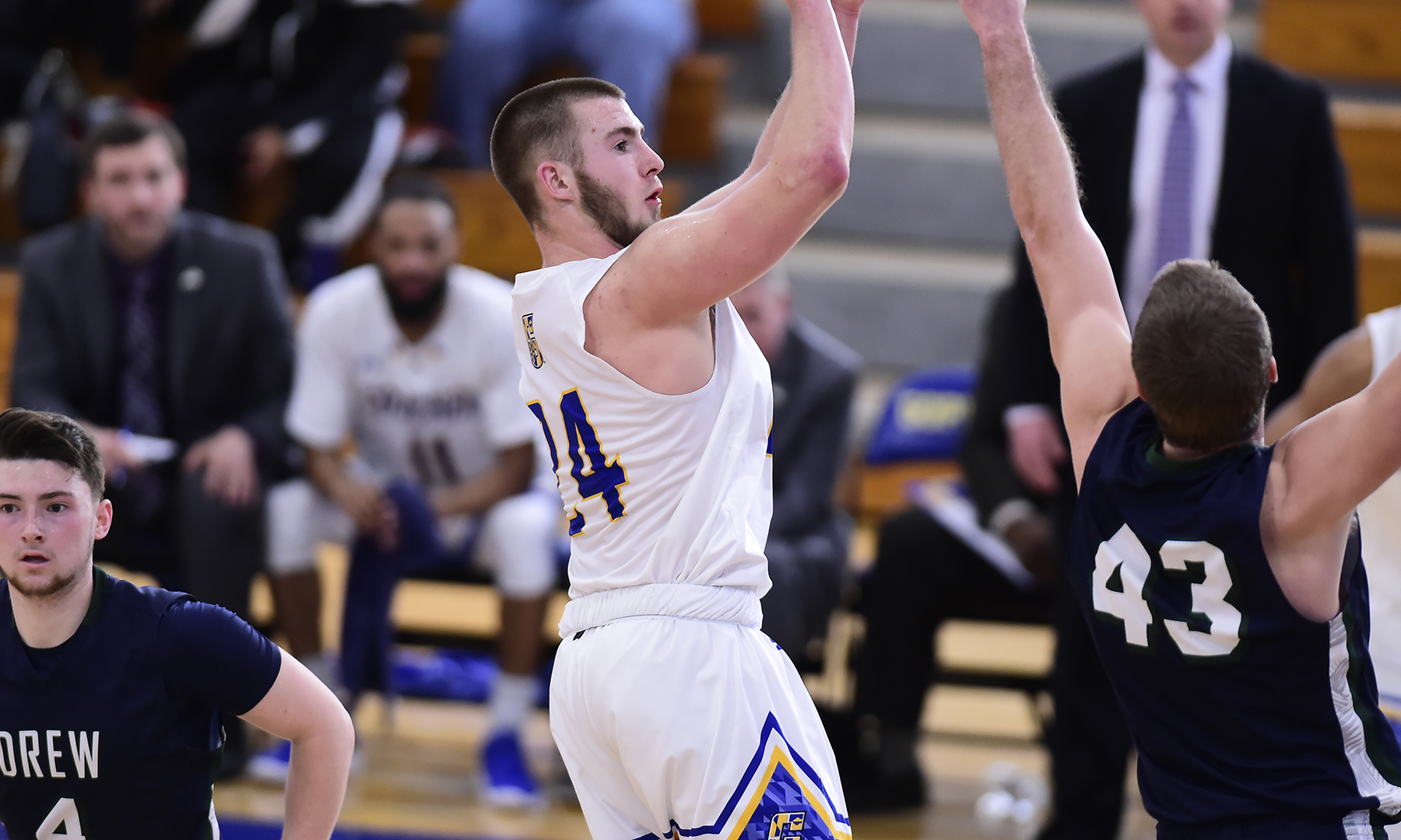 Three Score in Double-Figures, as Men's Basketball Falls Short at Juniata in Landmark Match-up
