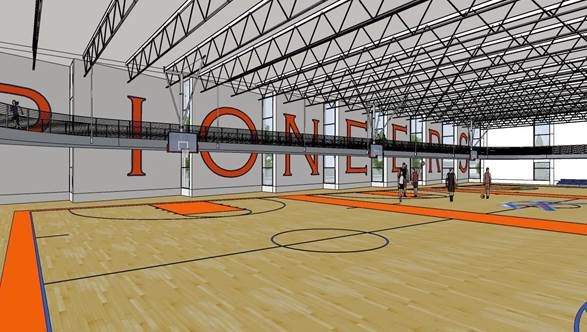 Three wooden basketball courts to be added