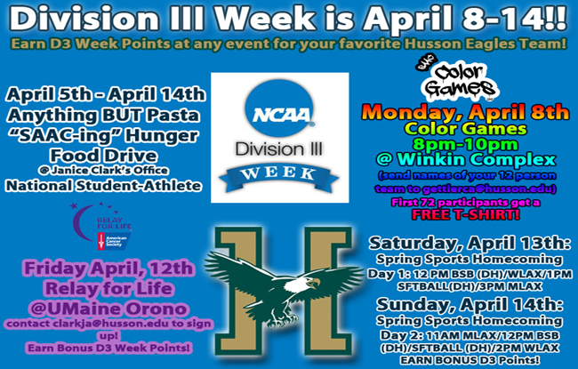 Husson Athletics and SAAC Make Plans to Celebrate Division III Week