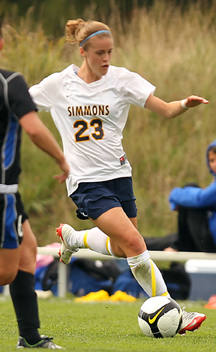 Simmons Soccer settled for a draw with UMass Boston in Sunday?s 3-3 double-overtime contest. With the tie, UMass Boston stands at 2-1-1 on the year while the Sharks are now 1-2-1. Simmons outshot the Beacons, 22-20 on the match and 6-2 in the overtime sessions, but neither team could find the back of the net in the extra frames.