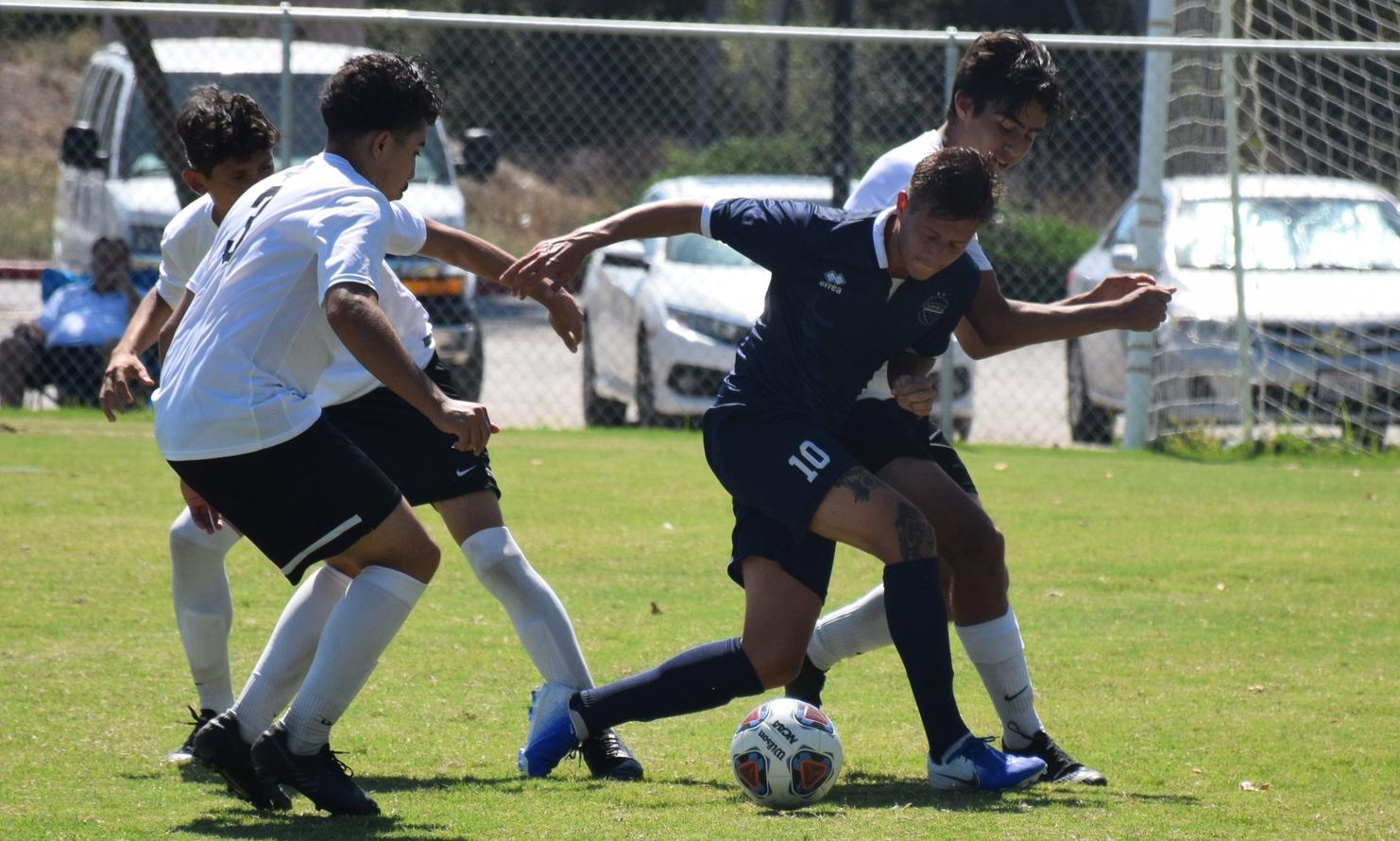 Men's soccer team plays well, but ends up drawing with SBVC