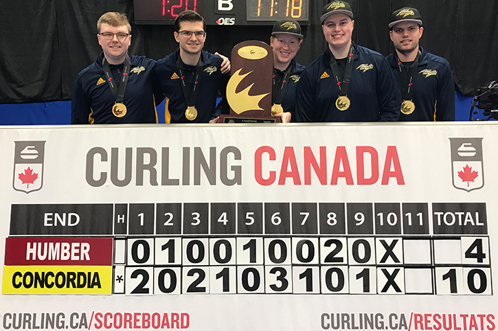 Concordia Thunder rolls to CCAA Curling Canada Championship