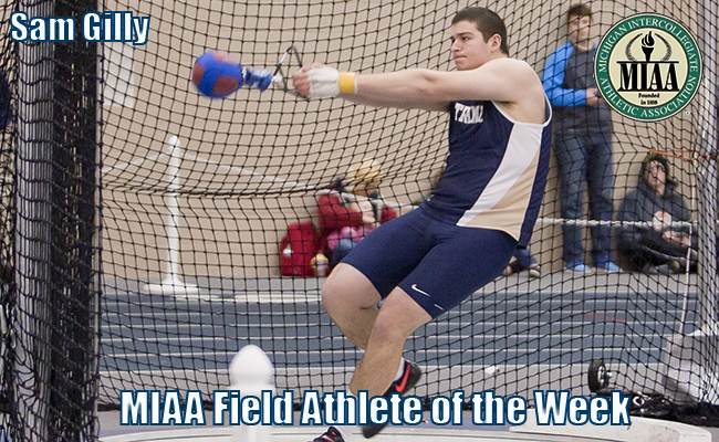Gilly named MIAA Field Athlete of the Week