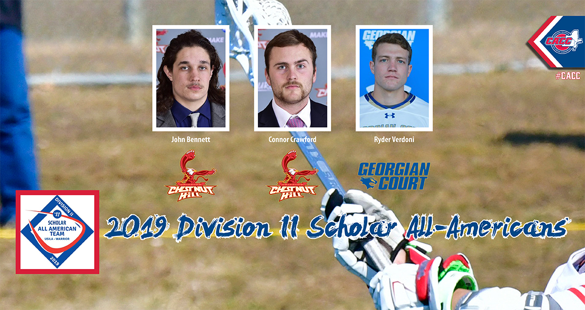 Trio of CACC Men's Lacrosse Standouts Named Scholar All-Americans by USILA