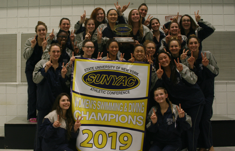 Geneseo wins 2019 women's swimming and diving title