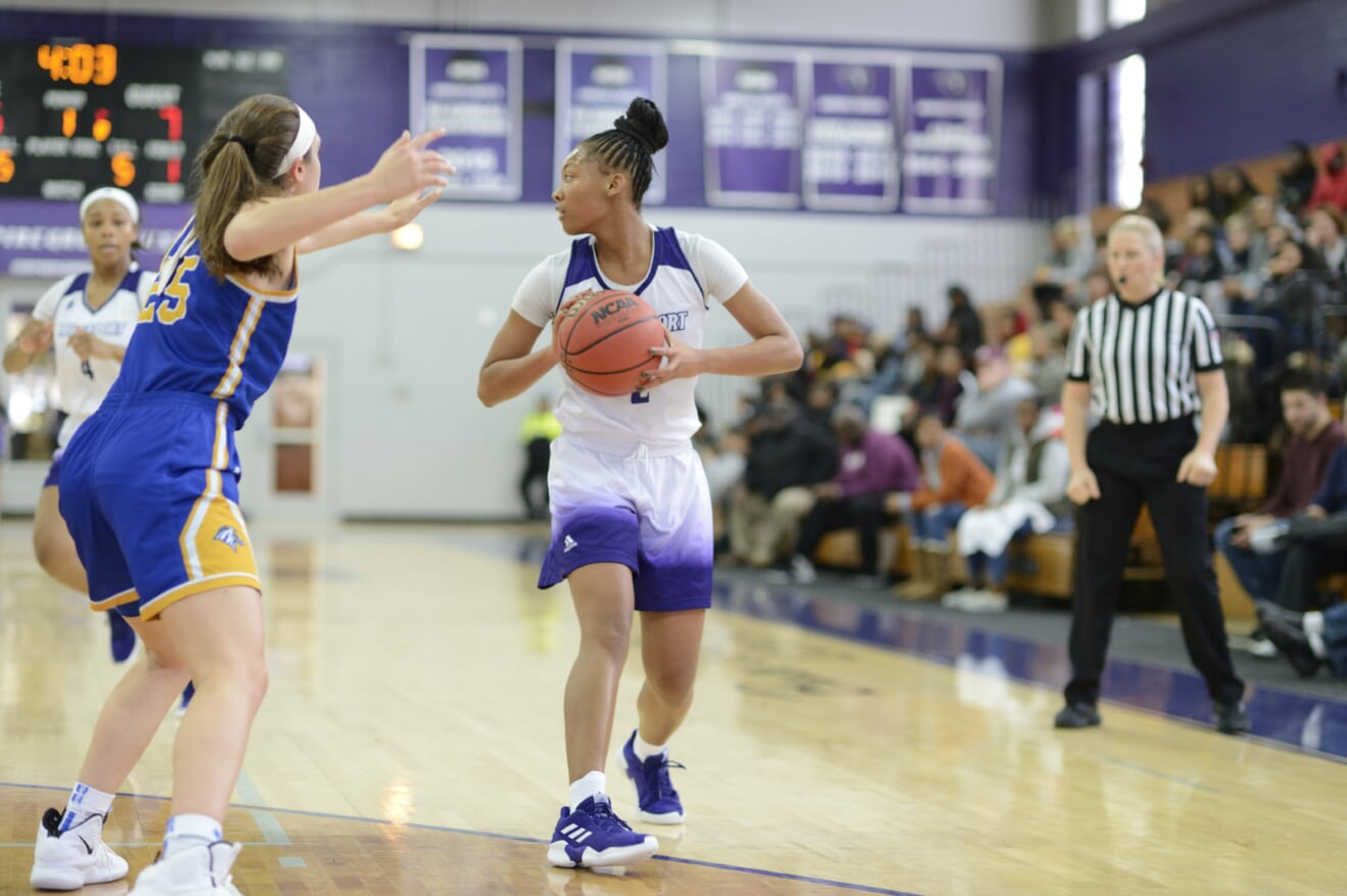 Ice Cold Purple Knights Fall To AIC, 69-49, In Non-Conference Women's Basketball Action