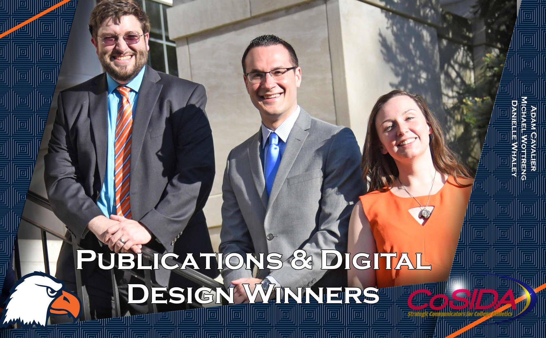 Athletic Communications team hauls in five awards in CoSIDA Publications and Digital Design Contest