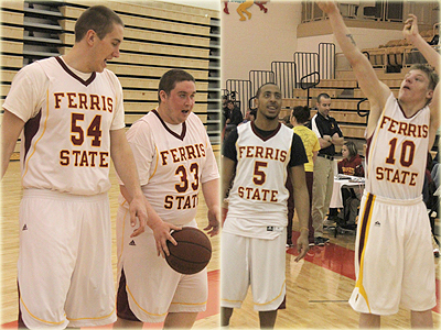 Ferris State Basketball players take part alongside local special olympics athletes (Photos Courtesy of Marty Slagter, Big Rapids Pioneer)