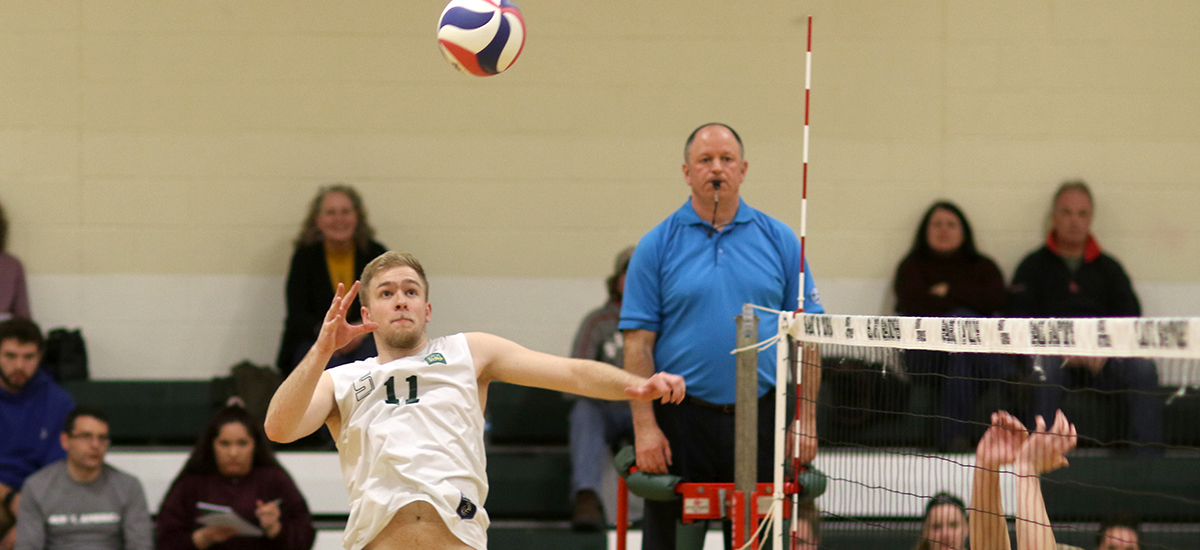 Sage men's volleyball pushes Springfield, but falls twice on Saturday