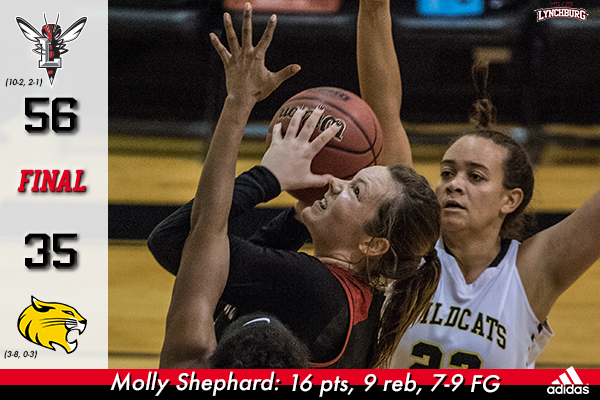 Molly Shephard shoots over a defender.