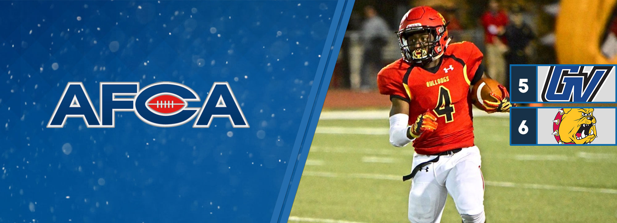 Grand Valley State Improves to No. 5, Ferris State No. 6 in Latest AFCA Rankings
