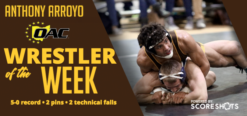 Arroyo Garners Fourth Career OAC Wrestling Weekly Honor