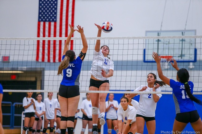 File Photo: Alexia Torres drive home a kill in a previous match